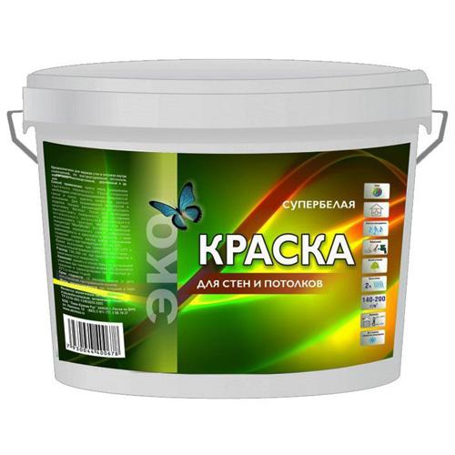 Краска ЭКО для стен и потолков 14 кг/52 по выгодной цене