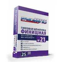 Шпатлевка гипсовая. финишная   РУСГИПС №21 25кг/50