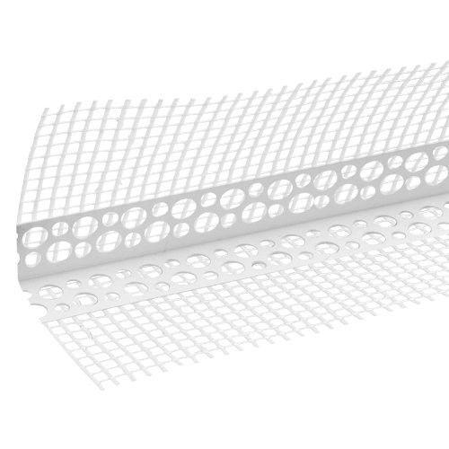 Профиль угловой ПВХ с армирующей сеткой 8*12 50шт х 2,5м. по выгодной цене