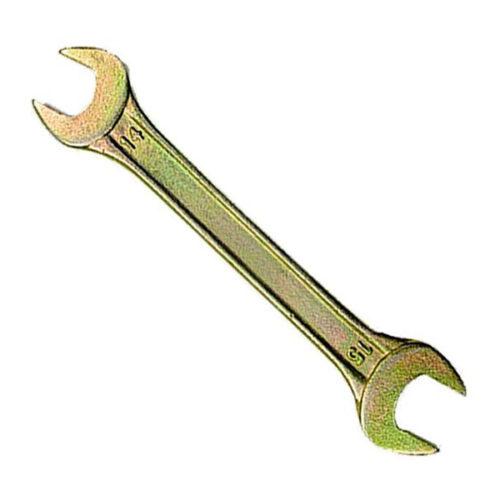 Ключ рожковый 13х17 мм желтый цинк Сибртех по выгодной цене
