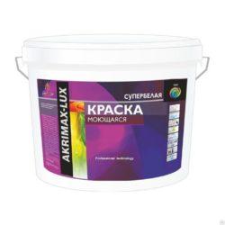 Краска моющаяся Akrimax-Lux акриловая супербелая 30 кг