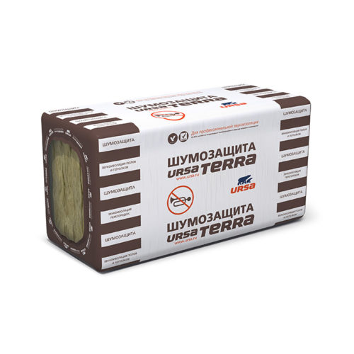 Плиты теплоизоляционные шумозащита URSA Terra 34PN 1000х610х50,  6,1м2 по выгодной цене