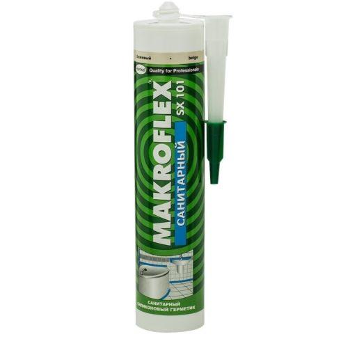 Герметик силиконовый Макрофлекс SX101 санитарный бежевый по выгодной цене
