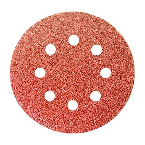 Круг абразивный на ворсовой подложке под «липучку», перфорированный, P 120, 125 мм, 5 шт.// СИБРТЕХ по выгодной цене