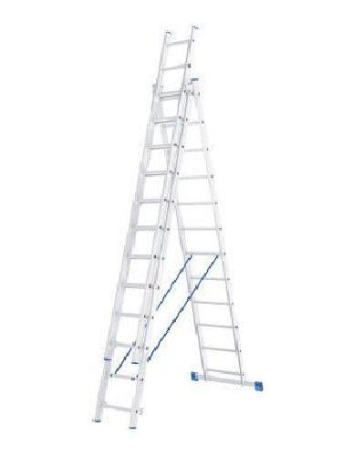 Лестница 3 х 12 ступеней алюминиевая трехсекционная Сибртех по выгодной цене