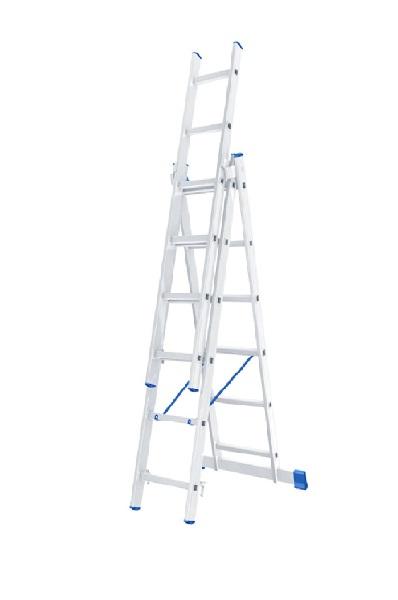 Лестница, 3 х 6 ступеней, алюминиевая, трехсекционная  // СИБРТЕХ // Pоссия по выгодной цене