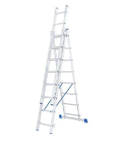 Лестница 3 х 8 ступеней алюминиевая трехсекционная Сибртех по выгодной цене