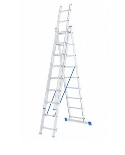 Лестница 3 х 9 ступеней алюминиевая трехсекционная Сибртех по выгодной цене