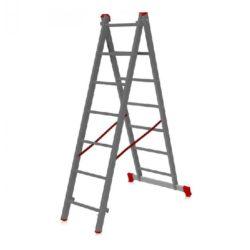 Лестница двухсекционная алюминиевая 2х7
