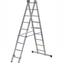 Лестница двухсекционная алюминиевая (2х9)