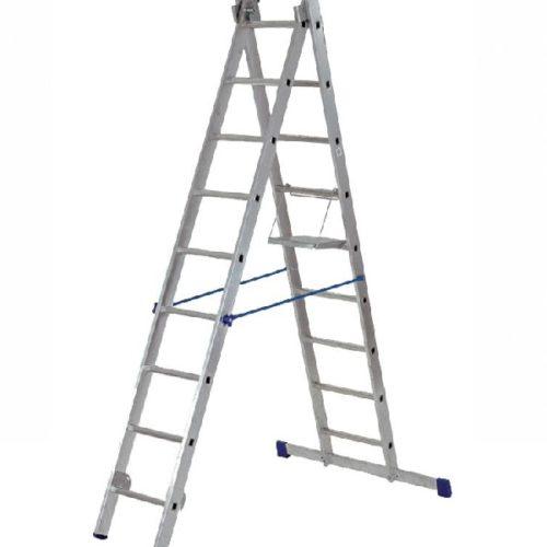 Лестница двухсекционная алюминиевая (2х9) по выгодной цене