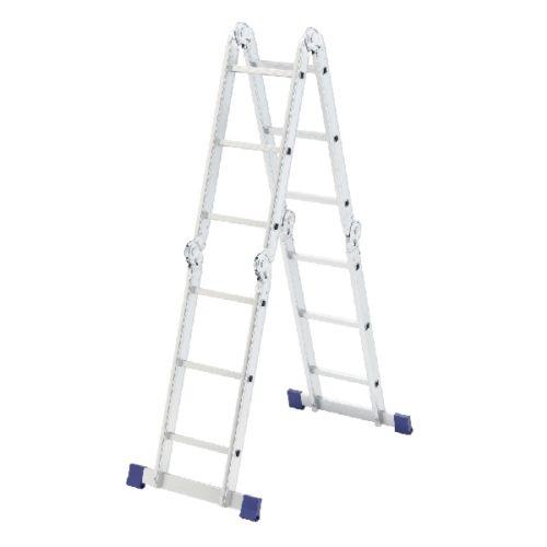 Лестница шарнирная алюминиевая 4х3 Сибртех по выгодной цене