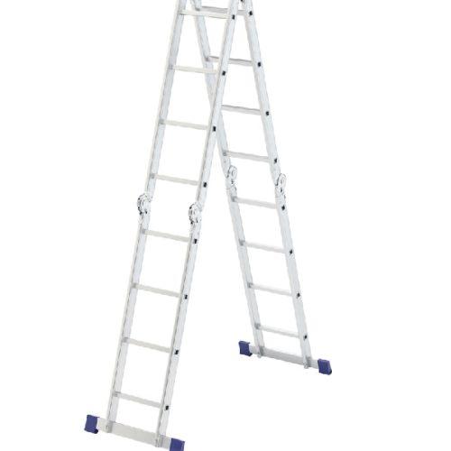 Лестница шарнирная алюминиевая 4х4 Сибртех по выгодной цене