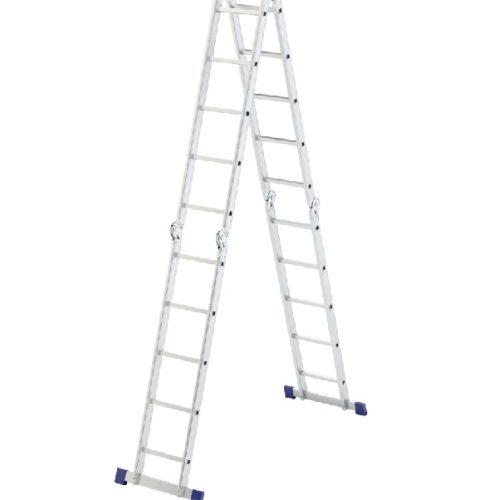 Лестница шарнирная алюминиевая 4х5 Сибртех по выгодной цене