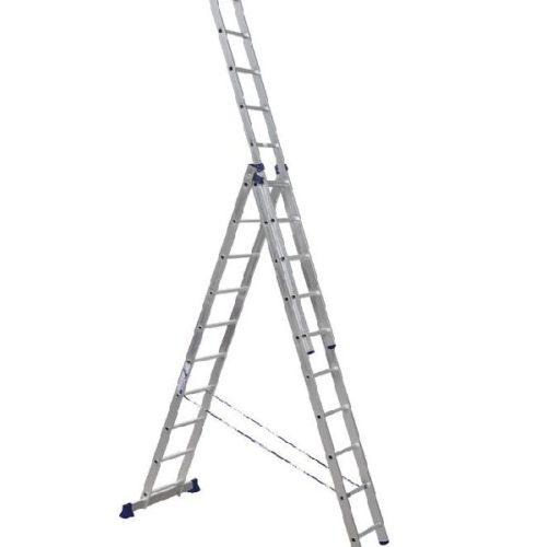 Лестница трехсекционная алюминиевая 3х10 по выгодной цене