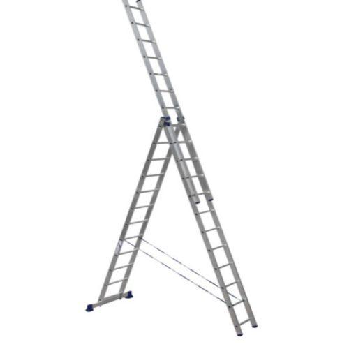 Лестница трехсекционная алюминиевая 3х12 по выгодной цене