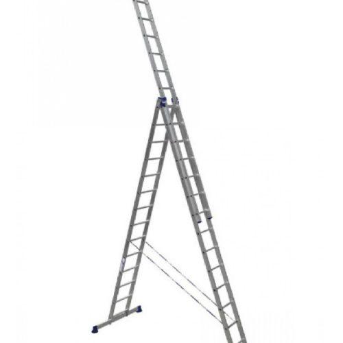Лестница трехсекционная алюминиевая 3х14 по выгодной цене