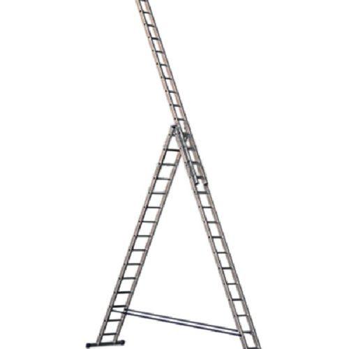 Лестница трехсекционная алюминиевая 3х15 по выгодной цене