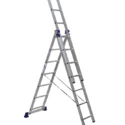 Лестница трехсекционная алюминиевая 3х7