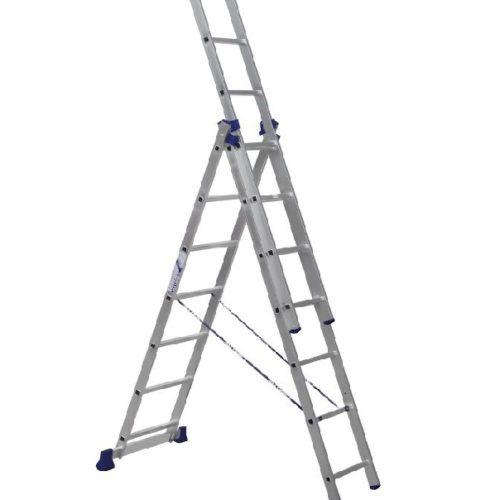 Лестница трехсекционная алюминиевая 3х7 по выгодной цене
