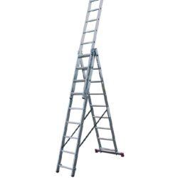 Лестница трехсекционная алюминиевая 3х9