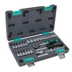 Набор инструментов STELS 29 предметов 1/4″ CrV , пластиковый кейс