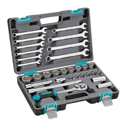 Набор инструментов, 1/2″,  CrV, пластиковый кейс 31 предм.// STELS по выгодной цене