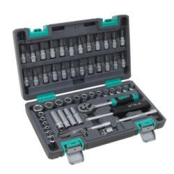 Набор инструментов STELS 57 предметов 1/4″ CrV , пластиковый кейс