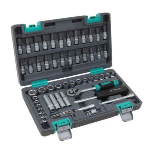 Набор инструментов STELS 57 предметов 1/4″ CrV , пластиковый кейс по выгодной цене