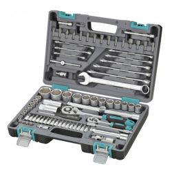 Набор инструментов STELS 82 предметов 1/2″, 1/4″ CrV , пластиковый кейс