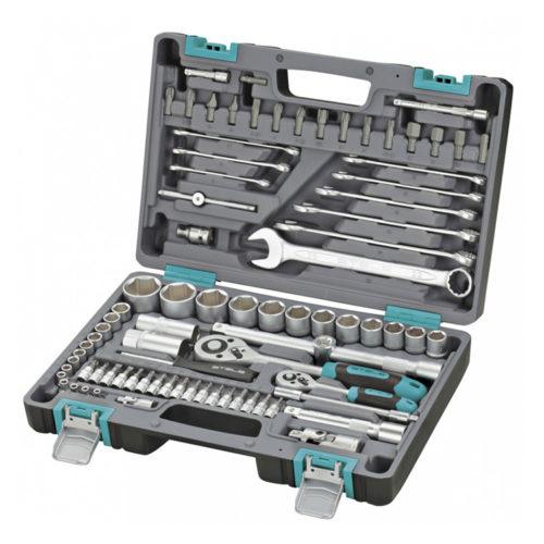 Набор инструментов STELS 82 предметов 1/2″, 1/4″ CrV , пластиковый кейс по выгодной цене