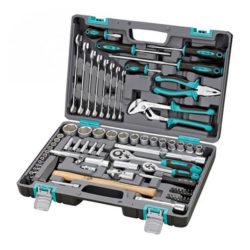 Набор инструментов STELS 94 предметов 1/2″, 1/4″ CrV , пластиковый кейс