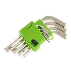 Набор ключей имбусовых Сибртех HEX 2–12 мм, 45x, 9 шт, закаленные, короткие, никель