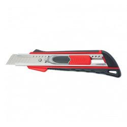 Нож 18мм, выдвижное лезвие QUICK BLADE металлическая направляющая, двойная фиксация, эргономичная двухкомпонентная рукоятка MATRIX