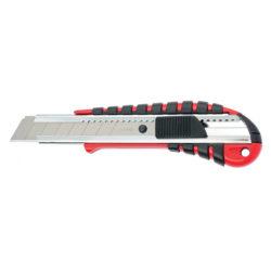 Нож 18мм, выдвижное лезвие, металлическая направляющая, эргономичная двухкомпонентная рукоятка MATRIX