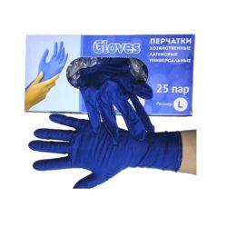 Перчатки хозяйственные GLOVES L 25