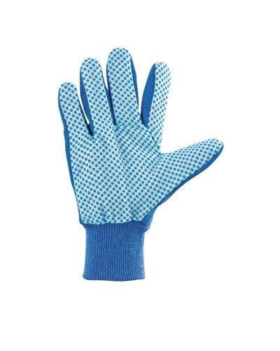 Перчатки рабочие х/б ткань с ПВХ точкой, манжет, XL Сибртех по выгодной цене