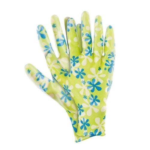 Перчатки садовые из полиэстера с нитрильным обливом, M, зеленые, PALISAD по выгодной цене