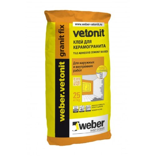 Плиточный клей Weber vetonit granit fix 25 кг по выгодной цене