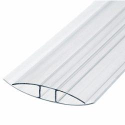 Профиль поликарбонатный PLASTILUX НP соединительный 10 мм, Прозрачный; 6 м