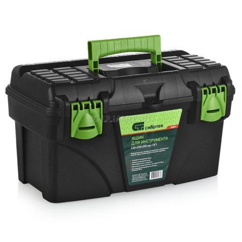 Ящик для инструмента СИБРТЕХ 430х235х250мм 18″, пластик по выгодной цене