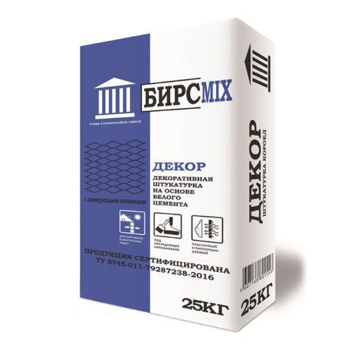 Штукатурная смесь ДЕКОР (КОРОЕД) БИРСMIX, 25 кг по выгодной цене
