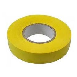 Изолента ПВХ 19мм х 20м желтая Сибртех