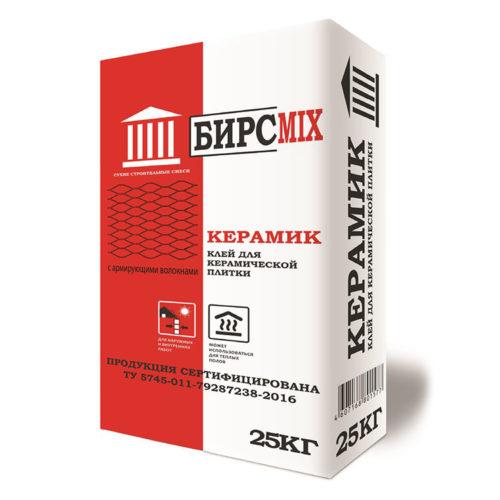 Клей плиточный КЕРАМИК, БИРСMIX, 25 кг/60 по выгодной цене