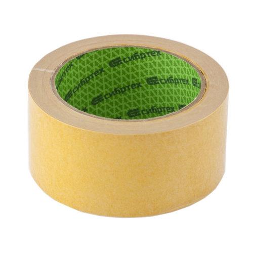 Лента клейкая двусторонняя, 50 мм х 10 м, на тканевой основе // СИБРТЕХ по выгодной цене