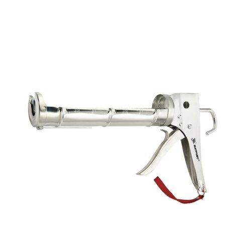 """Пистолет для герметика, 310 мл, """"полуоткрытый"""", хромир., зубчатый шток 7 мм// MATRIX по выгодной цене"""