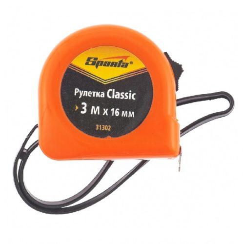 Рулетка Classic 3м х 16мм пластиковый корпус, SPARTA по выгодной цене