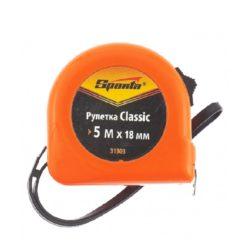 Рулетка Classic 5м х 18мм пластиковый корпус, SPARTA