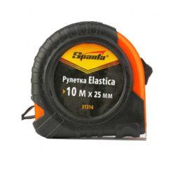 Рулетка Elastica 10м х 25мм, обрезиненный корпус, SPARTA