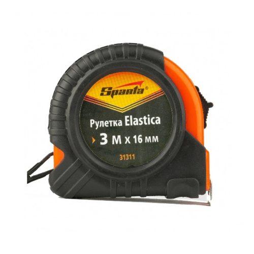 Рулетка Elastica 3м х 16мм обрезиненный корпус, SPARTA по выгодной цене